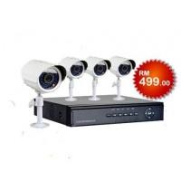 4CH 3G CCTV Combo Set 480TVL (HDMI)