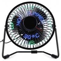 Metal USB Advertising Clock Fan